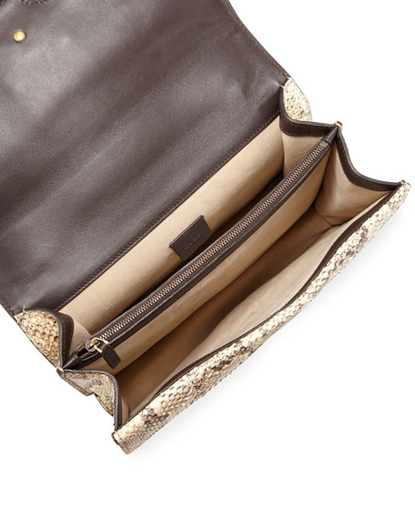 Dionysus Medium Python Shoulder Bag, Neutral