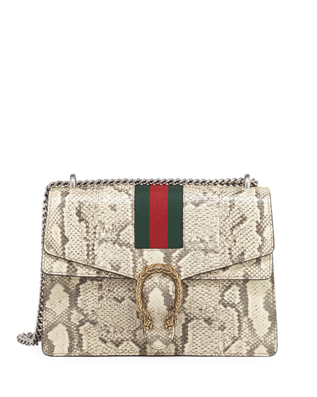 4f4f29fa3f Gucci Dionysus Medium Python Shoulder Bag, Neutral