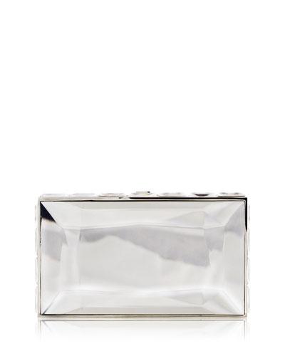 Duchesse Faceted Box Clutch Bag, Rhine