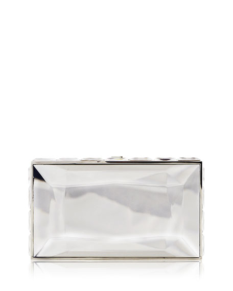 Duchesse Faceted Box Clutch Bag, Rhine