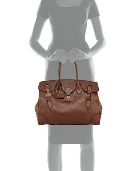 Soft Ricky 40 Leather Satchel Bag, Brown