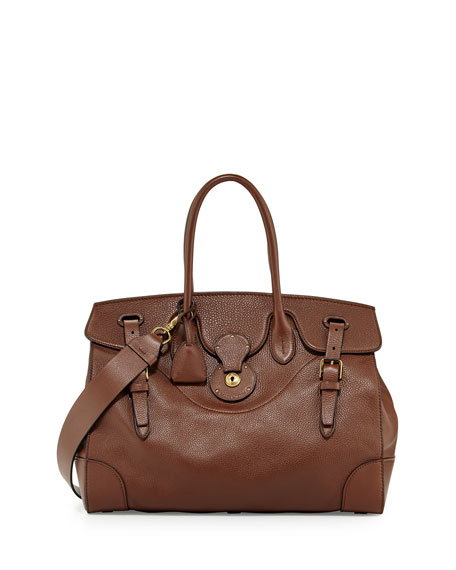Ralph Lauren Soft Ricky 40 Leather Satchel Bag,