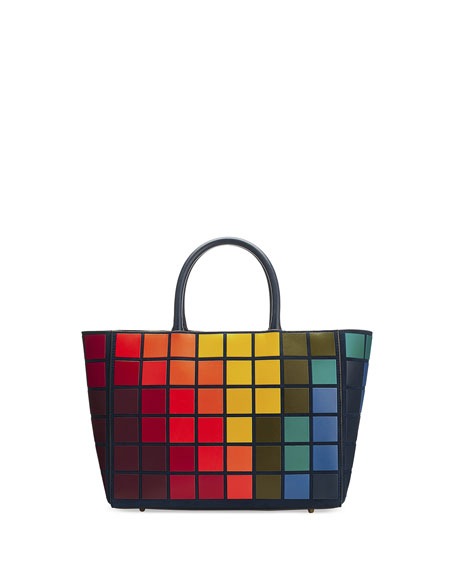 Ebury Small Giant Pixels Tote Bag, Ink/Multi