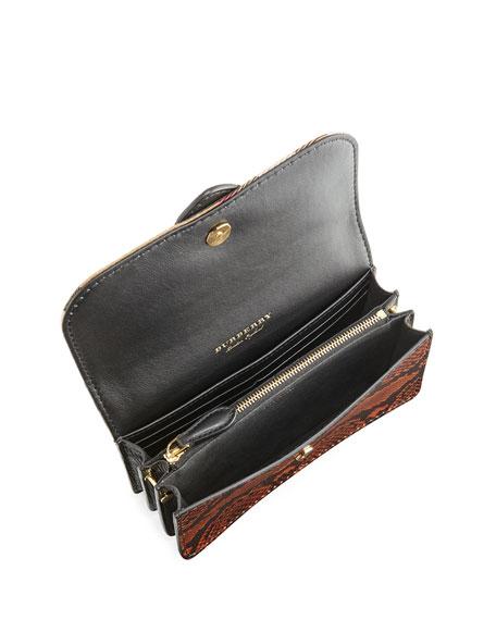 Hebden Patchwork Snakeskin Shoulder Bag