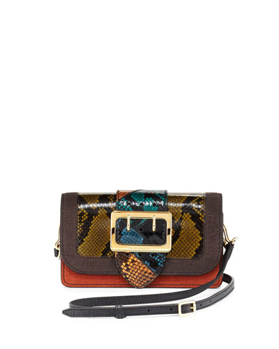 Goathland One-of-a-Kind Snakeskin & Leather Patchwork Bag