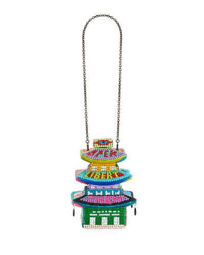 Libertine Loves Leiber Crystal Pagoda Box Clutch Bag