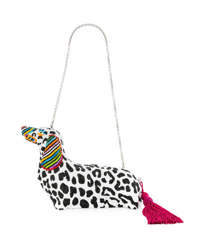 Libertine Loves Leiber Crystal Dachshund Box Clutch Bag