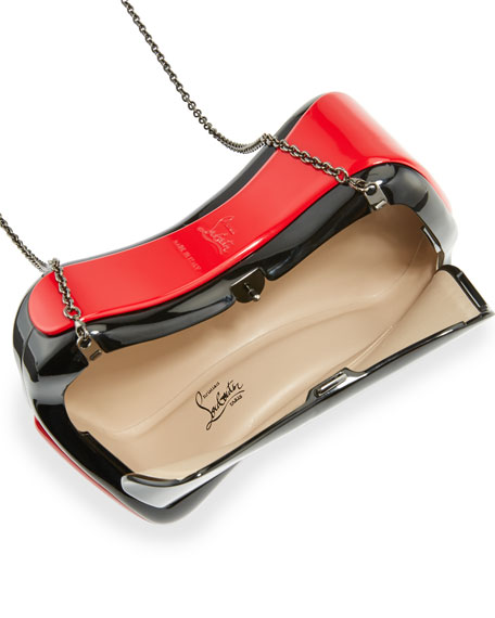 Shoespeaks Lacquered Clutch Bag