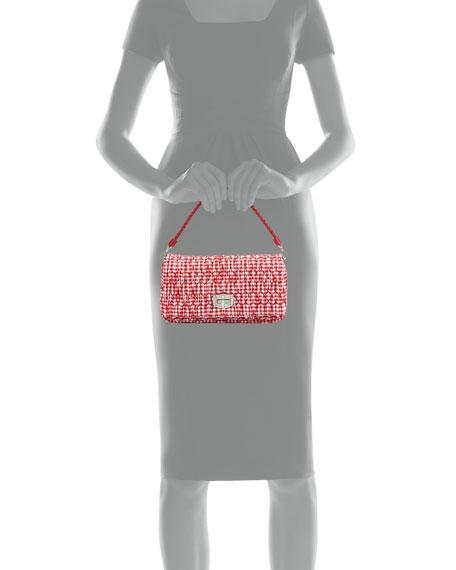 Crystal Collection Gingham Shoulder Bag, Red (Rosso)