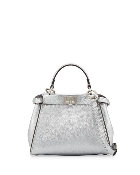 e39c1f76 Peekaboo Mini Satchel Bag Silver