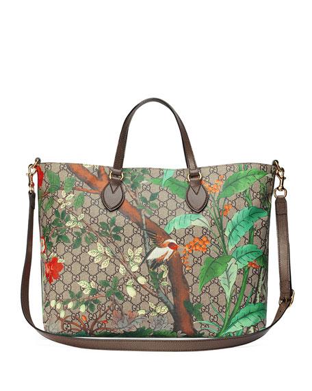 a4571b7350b Gucci Tian GG Supreme Top-Handle Tote Bag