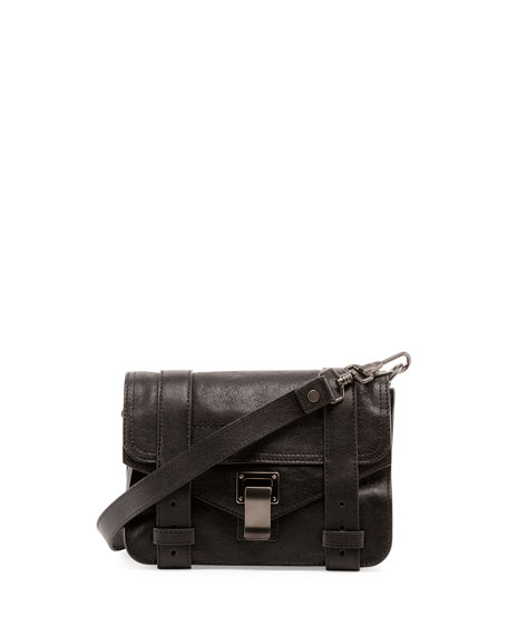 PS1 Mini Luxe Leather Crossbody Bag, Black