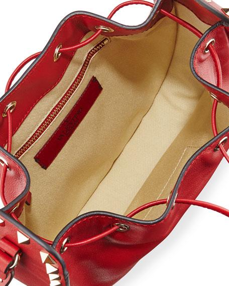 Rockstud Small Drawstring Crossbody Bag