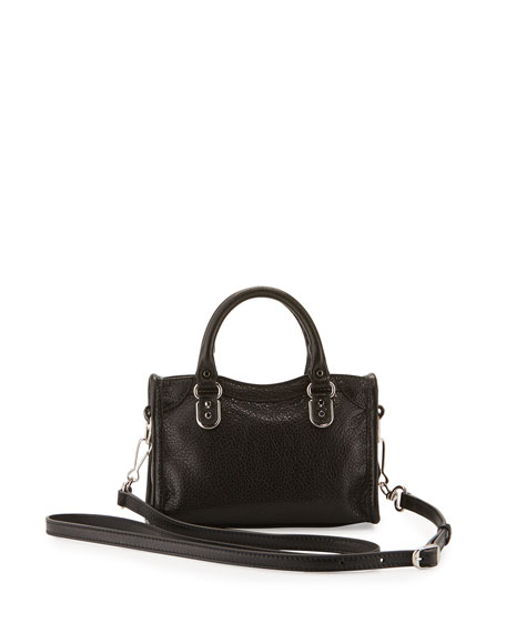 Metallic Edge Nano City AJ Crossbody Bag