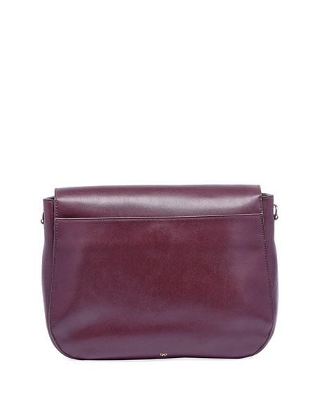 Ebury Satchel Smiley Shoulder Bag, Wine