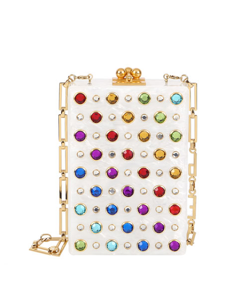 Carol Rainbow Stud Clutch Bag