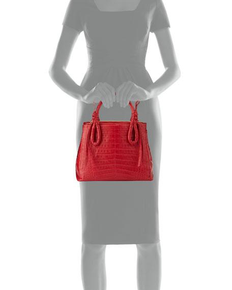 Crocodile Medium Knotted Top-Handle Bag