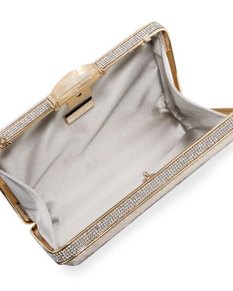Etoile Velvet Box Clutch Bag, Champagne