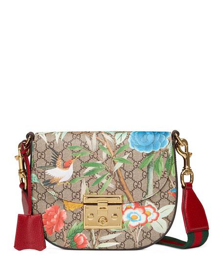 bc14bc36d8 Gucci Padlock Gucci Tian Saddle Bag, Brown