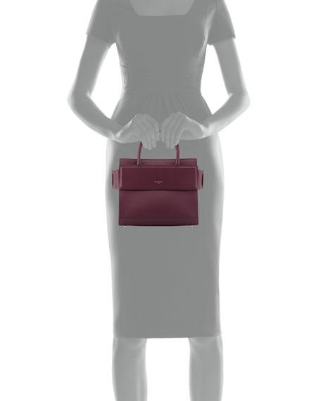 Horizon Mini Leather Satchel Bag, Purple