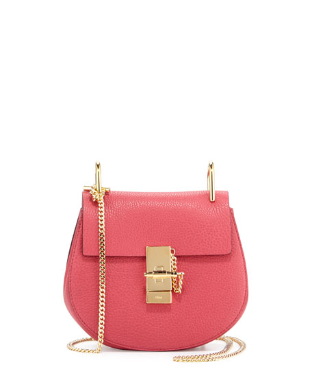 Chloe Drew Mini Lambskin Shoulder Bag, Pink