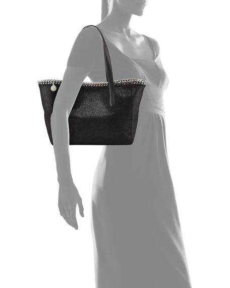 Falabella East-West Shopper Tote Bag, Black