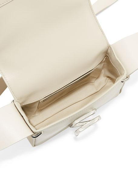 Alix Flap Mini Crossbody Bag, Chalk