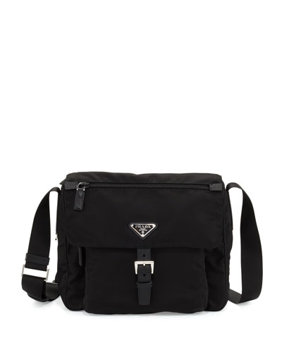 Small Nylon Crossbody Bag  Black (Nero)
