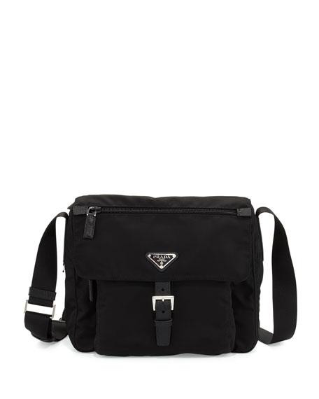 c6404f2e628db7 Prada Small Nylon Crossbody Bag, Black (Nero)