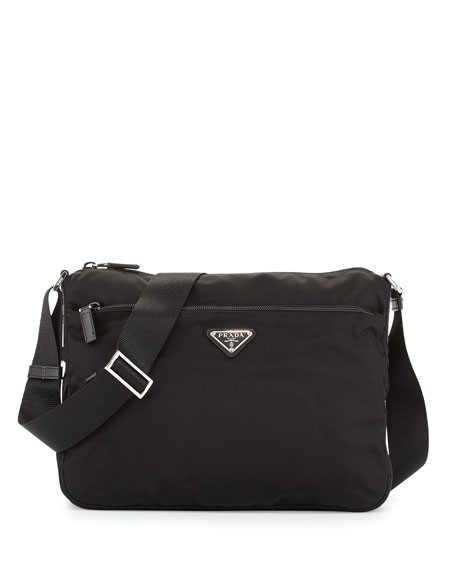2182f30507aa88 Prada Large Nylon Crossbody Bag, Black (Nero)