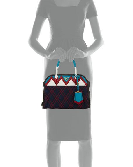 Tessuto Impunturato Satchel Bag