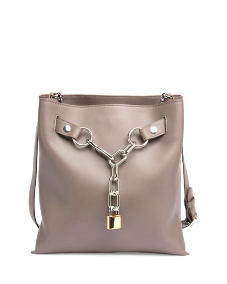 Attica Chain Crossbody Bag, Gray