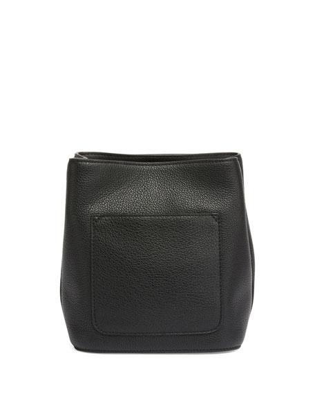 Riot Leather Bucket Bag, Black