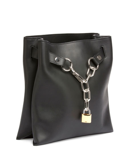 Attica Chain Crossbody Bag, Black