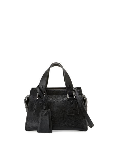 Giorgio Armani Small Vitello Leather Satchel Bag c3c86a02578a9