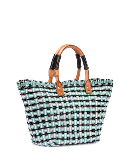Bistro Cabas Small Straw Tote Bag