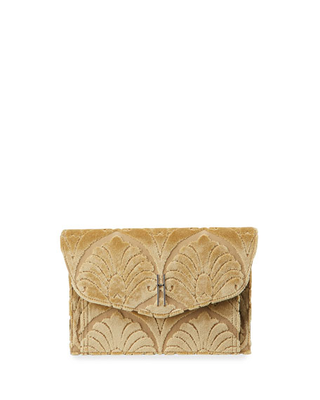 Venetian Brocade Envelope Clutch Bag, Gold