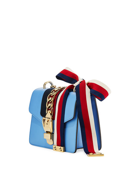 Sylvie Leather Mini Chain Shoulder Bag