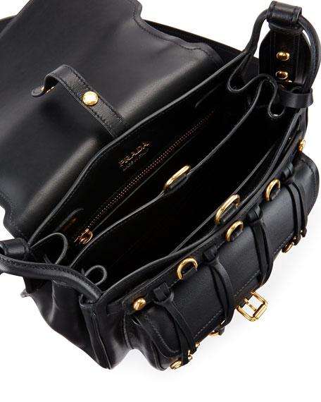 7aece38de0b1 Prada Leather City Saddle Bag