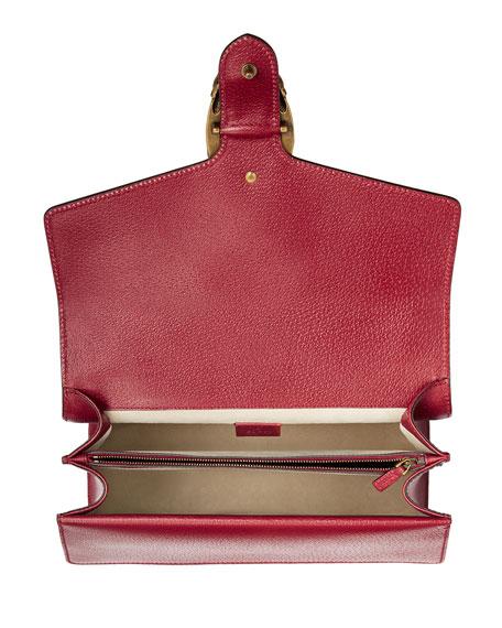 Dionysus Medium Raccoon-Embroidered Shoulder Bag, Red/Multi