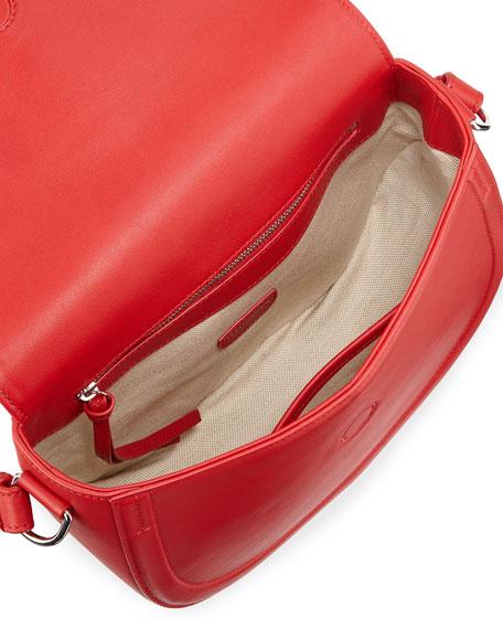Ghianda Saddle Knot Small Leather Bag, Red