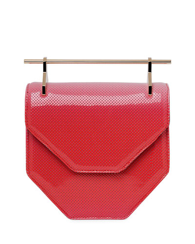 Amor Fati Perforated Patent Satchel Bag, Coral