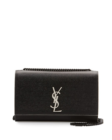 Saint Laurent Monogram Kate Medium Chain Bag, Black