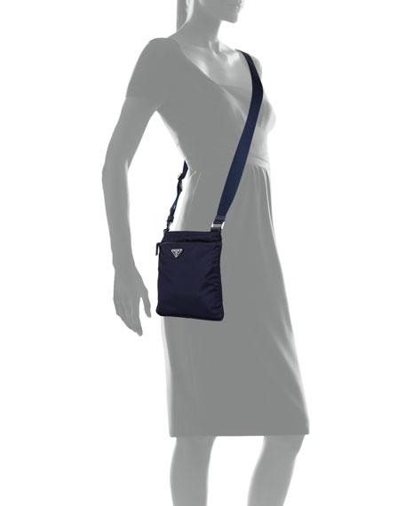 7ac2afe94972 Prada Vela Small Nylon Crossbody Bag