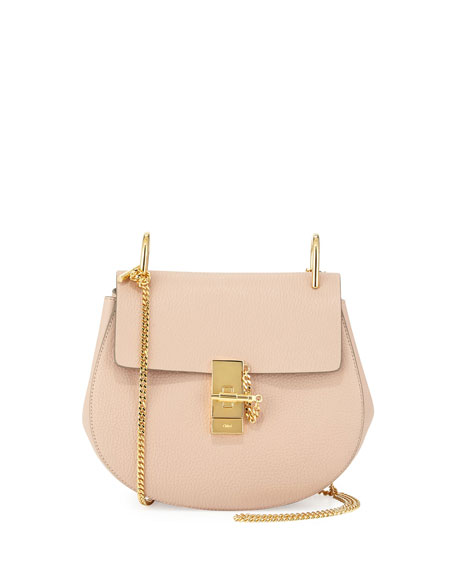 1f06c8cab1c61 Chloe Drew Small Chain Saddle Bag, Cement Pink