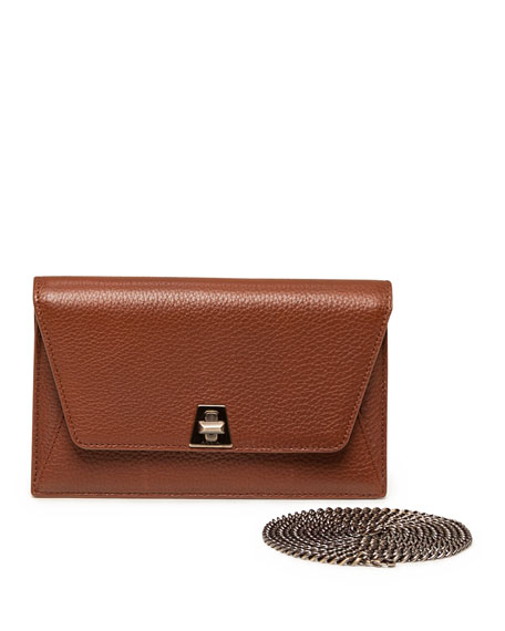 Anouk Mini Leather Chain Envelope Clutch Bag