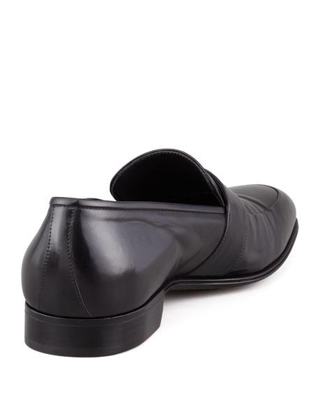 Slip-On Loafer with Elongated Blind Keeper, Black