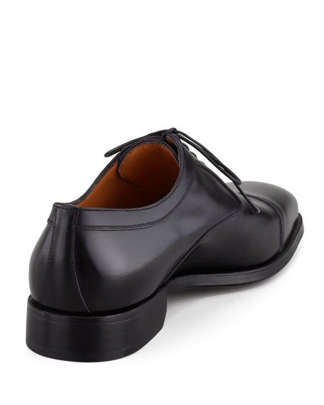 Cap-Toe Balmoral Calfskin Lace-Up, Black