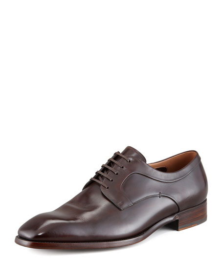Plain Toe Lace-Up, Dark Brown