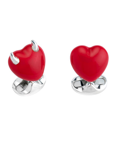 Good & Bad Heart Cuff Links